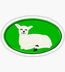 Happy Kawaii Lamb Sticker