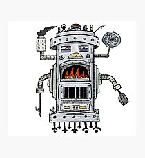 FIREBELLY Robot Photographic Print