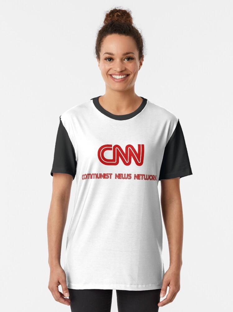 Alternate view of CNN - Communist News Network Graphic T-Shirt