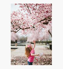 Cute little girl Photographic Print