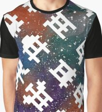 Pixel Alien Invaders Galaxy Graphic T-Shirt