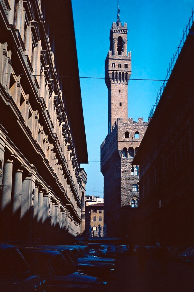 The Tower of Asinelli, Bologna, Italy by Priscilla Turner