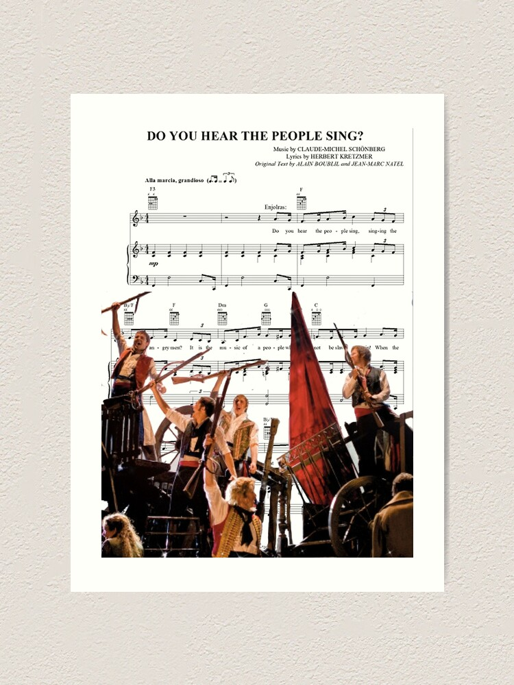 Do You Hear The People Sing Les Miserables Art Print By Madisynbozarth Redbubble
