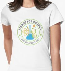 March for Science Chicago Womens Fitted T-Shirt