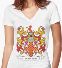 Bowser Coat of Arms Women's Fitted V-Neck T-Shirt