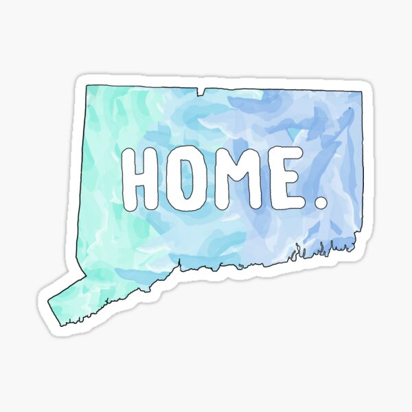Connecticut CT State Watercolor Home Sticker