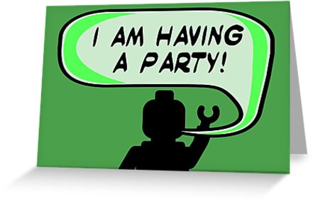 """I AM HAVING A PARTY"" Invitation  by ChilleeW"