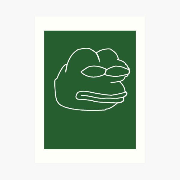 Vector Pepe Art Print