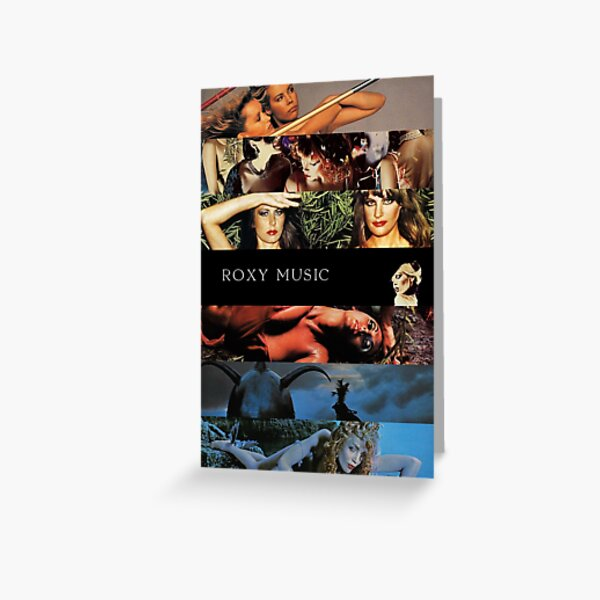 Roxy Music Albums Greeting Card