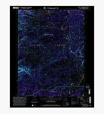 USGS TOPO Map Colorado CO Mount Werner 233900 2000 24000 Inverted Photographic Print
