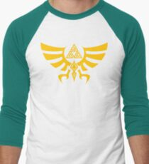 Triskele Triforce - Crest of Hyrule - Legend of Zelda Baseball ¾ Sleeve T-Shirt