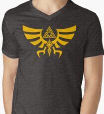 Triskele Triforce - Crest of Hyrule - Legend of Zelda V-Neck T-Shirt