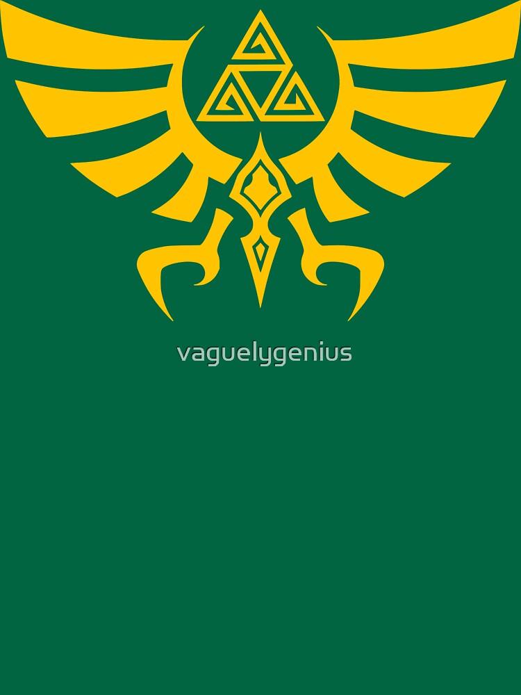 Triskele Triforce - Crest of Hyrule - Legend of Zelda by vaguelygenius