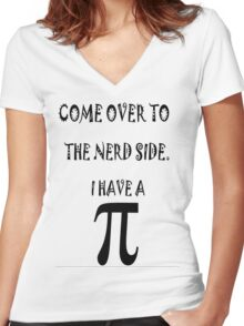NERD Women's Fitted V-Neck T-Shirt