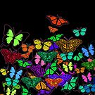 Butterflies Colorful Pattern by Greenbaby