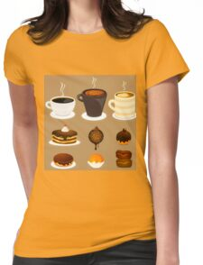 Dessert Time Collection Flat Designs Womens Fitted T-Shirt