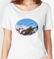As the season flies by ('Leaf'ing below a jet plane) Women's Relaxed Fit T-Shirt