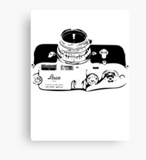 Classic Rangefinder Camera (Black) Canvas Print