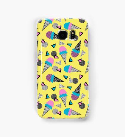 Cruncher - memphis throwback ice cream cone desert 1980s 80s style retro geometric neon pop art Samsung Galaxy Case/Skin