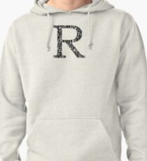 R Filled | Typography Pullover Hoodie