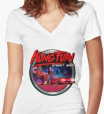 Kung Fury Women's Fitted V-Neck T-Shirt