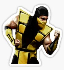 Mortal Kombat Sticker Series - Scorpion UMK3 Sticker