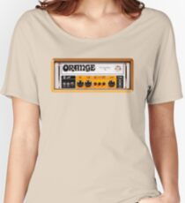 Orange color amp amplifier Women's Relaxed Fit T-Shirt