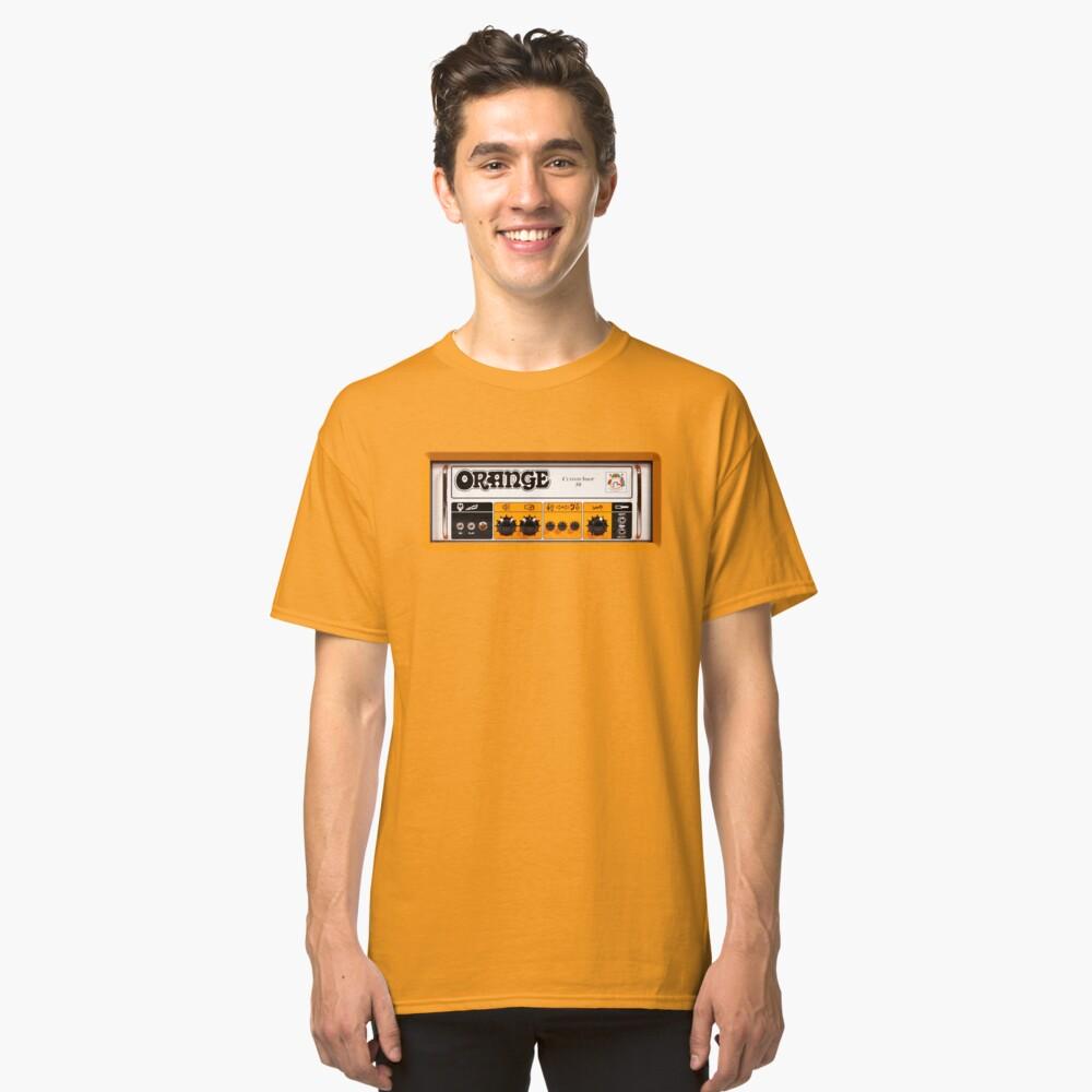 Amplificador de amplificador de color naranja Camiseta clásica