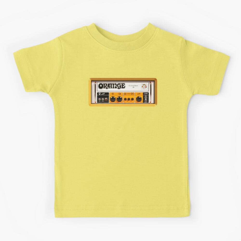 Orange Farbverstärker Kinder T-Shirt