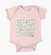Coffee Doodles One Piece - Short Sleeve