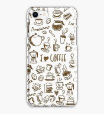 Coffee Doodles iPhone Case/Skin