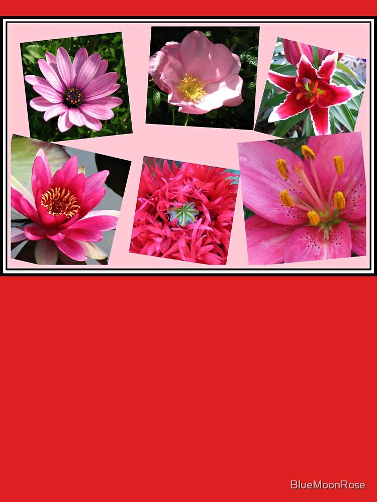 Pink Flowers of Summer Collage von BlueMoonRose