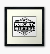 Pinochet Helicopter Tours - All Leftists Fly for Free!  Framed Print