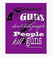 Guns Photographic Print