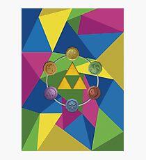 Tri-Force polygon Photographic Print