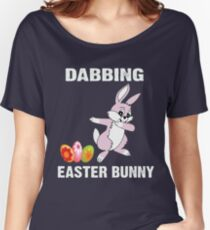 Funny Easter Bunny Dabbing tshirt Women's Relaxed Fit T-Shirt