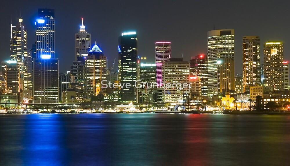 Sydney City by Night by Steve Grunberger