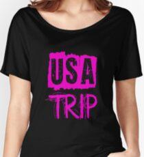 USA Trip Women's Relaxed Fit T-Shirt