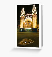 Reflections, Luna Park - Sydney Australia Greeting Card