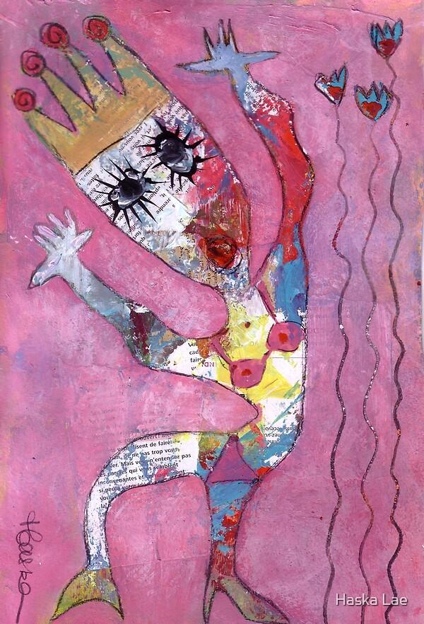 Lili Gardern (on paper) by Haska Lae