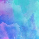 Blue and Purple Watercolor  by Greenbaby