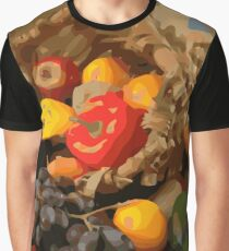 Cornucopia with Fruit and Vegetables Graphic T-Shirt