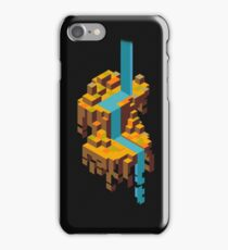 The Isometric Forest Waterfall iPhone Case/Skin