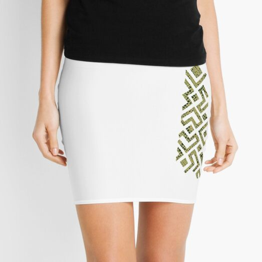 Africa Tie Mini Skirt