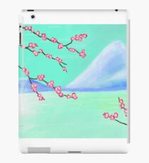 Cherry Blossom with Mountain iPad Case/Skin
