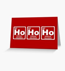 Ho Ho Ho - Christmas - Santa Claus - Periodic Table Greeting Card