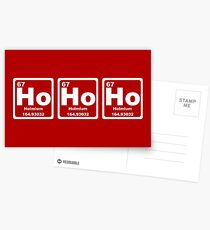 Ho Ho Ho - Christmas - Santa Claus - Periodic Table Postcards