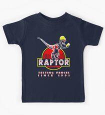 Raptor. Testing fences since 1993. Kids Tee