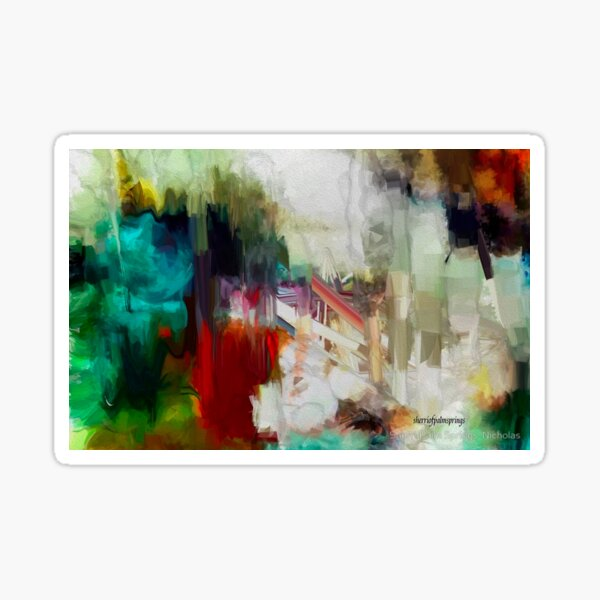 Abstract Staircase Sticker