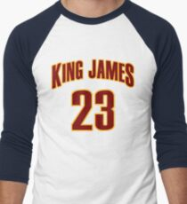 King James Jersey Script 3 Men's Baseball ¾ T-Shirt